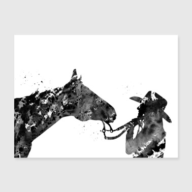Girl with horse - Poster 24x18