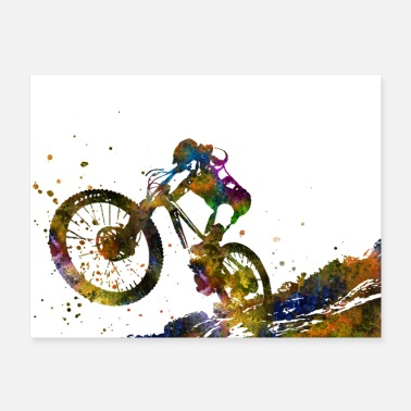 Mountain Sports Mountain biking, mountain bike, sport - Poster