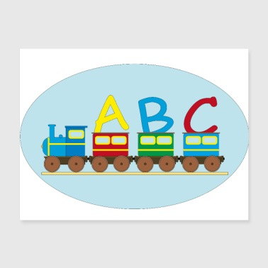 ABC Train Elementary School Back to school gift - Poster 24x18