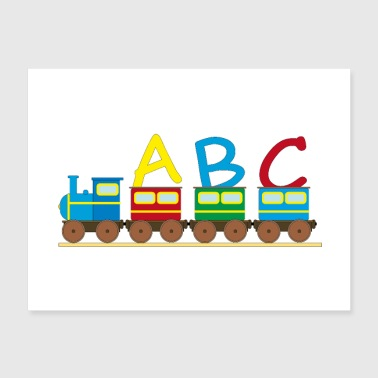 ABC Train, Children, Kindergarden, School, Toddler - Poster 24x18