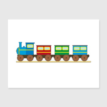 Train for kids Trains tank engine railway toddlers - Poster 24x18
