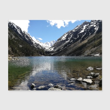 Lac de Gaube France Mountains landscape Pyrenees - Poster 24x18