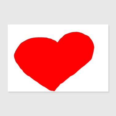 I Heart HEART COEUR - Poster 12x8