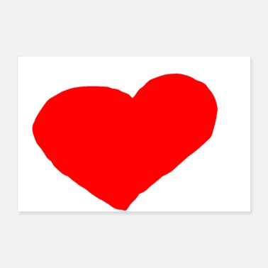 I Love HEART COEUR - Poster