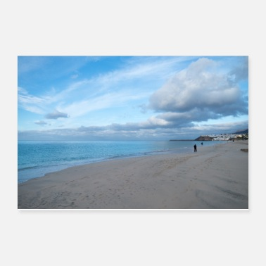 Landscape Chilly beach scene - Poster
