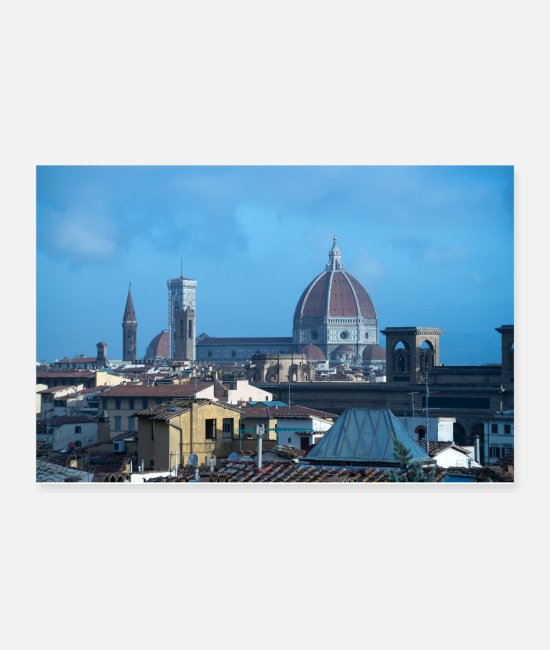 High-rise Building Posters - Rooftops of Florence Italy - Posters white