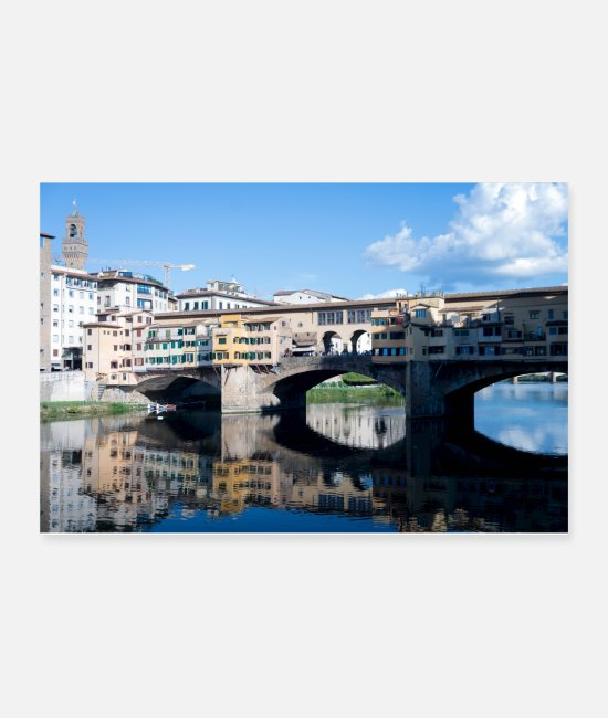 Italian Posters - Bridges of Florence Italy III - Posters white