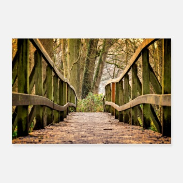 Raider Bridge in the Forest - Poster 12x8