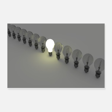 Chain Bulb - Poster 12x8