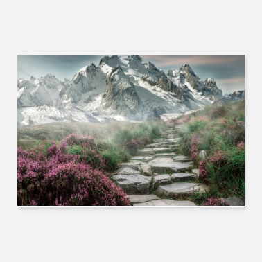 Alps Mountain - Poster 12x8
