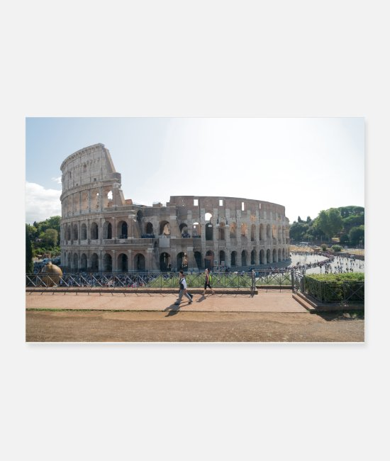 Rome Posters - Colosseum Rome Italy - Posters white