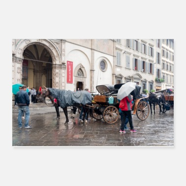 Rain Florence Tuscany in the rain - Poster 12x8