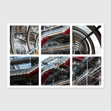 Centre Pompidou in Paris (France) - Poster 12x8