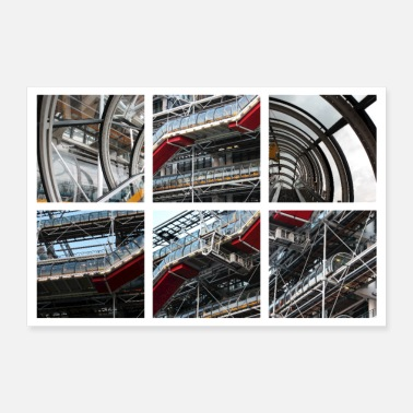 Paris Centre Pompidou in Paris (France) - Poster 12x8