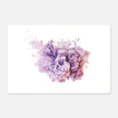 Under Water Ink Colours 2 - Poster 12x8