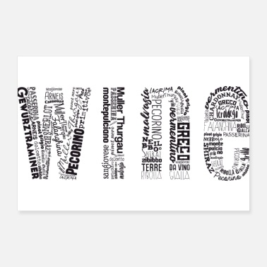 Tagging Wine Tag Cloud - Poster