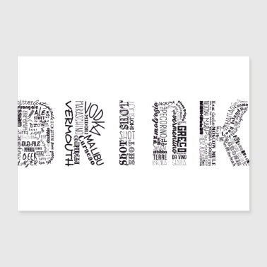 Drinks Tag Cloud - Poster 12x8