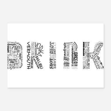 Tag Drinks Tag Cloud - Poster 12x8