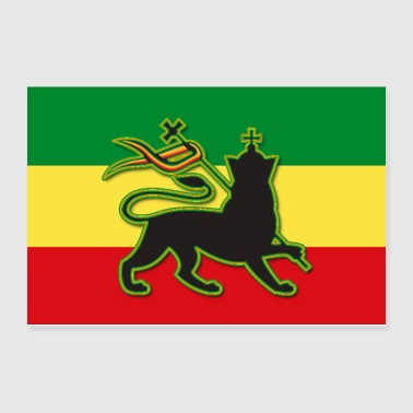Rasta Flag with The Lion of Judah - Poster 12x8