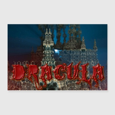 Dracula's Castle at Night with Moon Beam - Poster 12x8