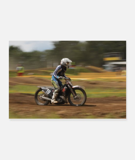 Pilot Posters - motocross - Posters white