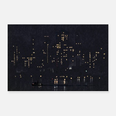 White Night Lights of Manhattan - Poster