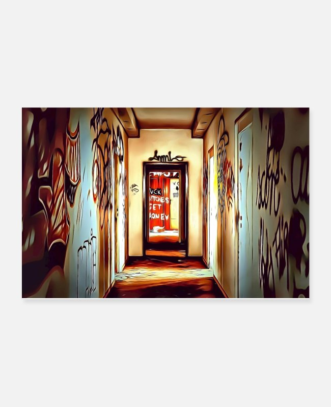 Streetwear Posters - DC 106 Full Color Graffiti - Posters white