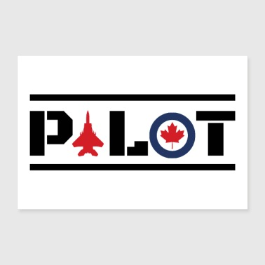 Aircraft Nose Art Pilot Canada Maple Leaf -Gift - Poster 12x8