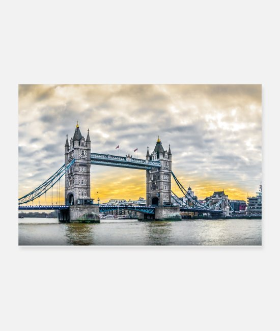 Thames Posters - Tower Bridge at daybreak. - Posters white