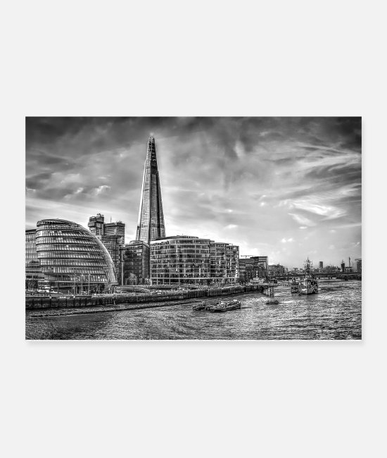 Building Posters - The Shard Building London - Posters white