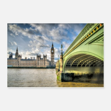 Palace Of Westminster Westminster Bridge and Big Ben. - Poster