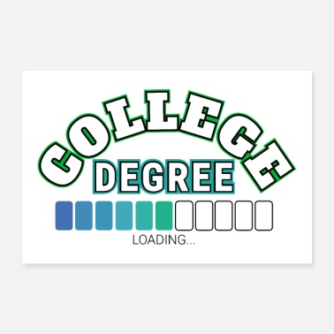High School Graduate Student College Degree Loading indicator status - Poster 12x8