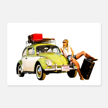 Meeting Hippie Beetle Girl - Poster 12x8