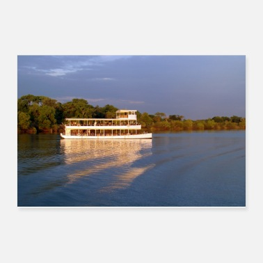 Tourist Sightsing Boat on the zambezi river - Poster