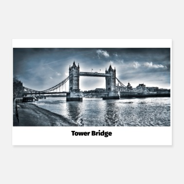 Weather Tower Bridge London - Poster 12x8