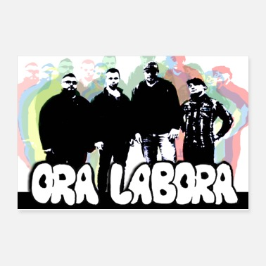 Band Poster ORA LABORA POSTER Sticker Design 1 - Poster