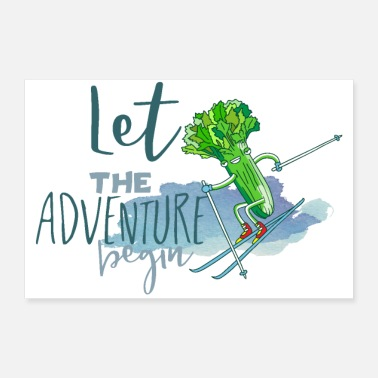 Vacation Country Let the adventure begin - Veggie Ski Snowboarding - Poster