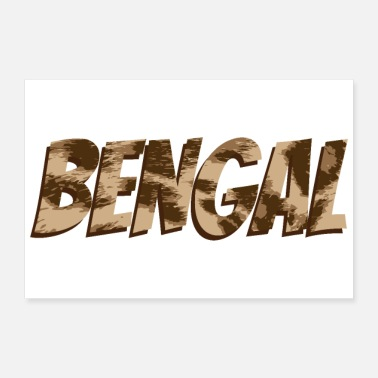 Bengal Tiger Cat Bengal Letter with Bengal Cat Color -Gift Idea - Poster