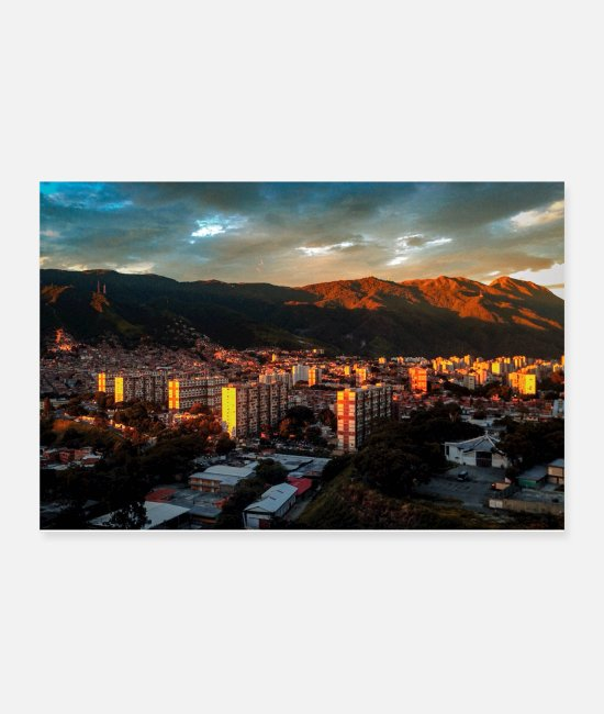 Mountains Posters - Caracas Valley Poster - Posters white
