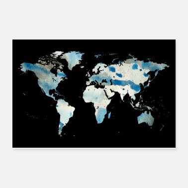 New Zealand World map - Poster