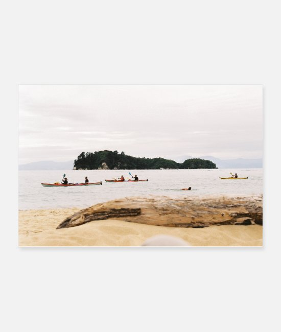 National Team Posters - Paddle boat Abel Tasman National Park - Posters white