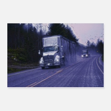 Hauling The Forest Route - Trucker Art - Poster