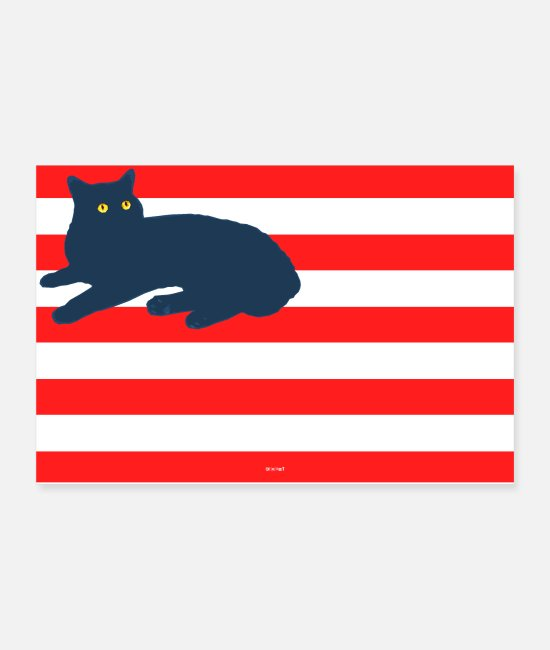 Usa Posters - American Cat - Posters white
