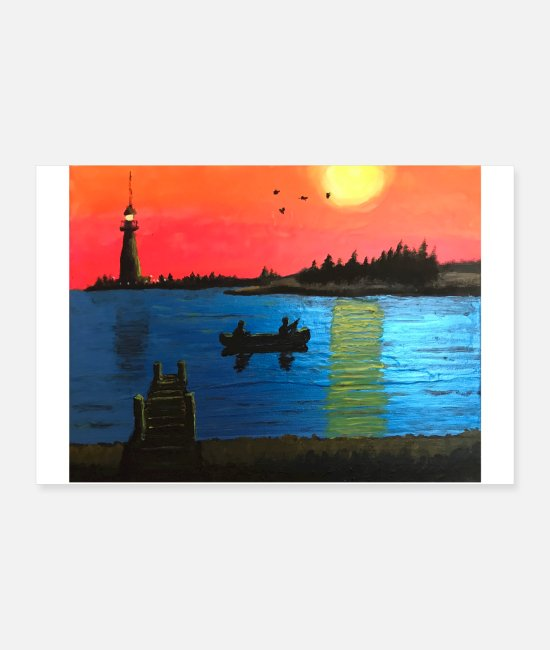 Artist Posters - Waterfront at Sunset by Jason Signor - Posters white