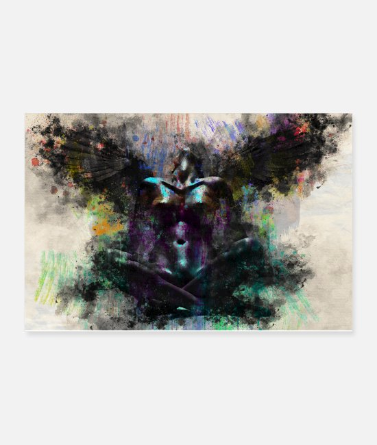 Art Posters - Abstract Sexy Nude Erotic Angel - Posters white