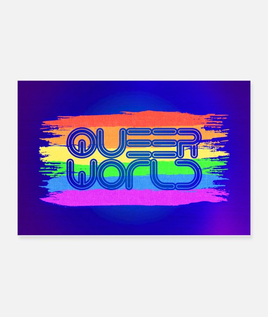 Gay Pride Posters - Queer World LGBTQ Poster - Posters white