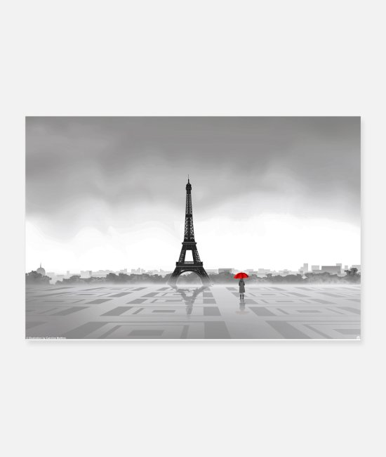 Red Posters - Paris - Posters white
