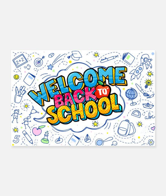 Middle School Posters - BACK TO SCHOOL 2 - Posters white