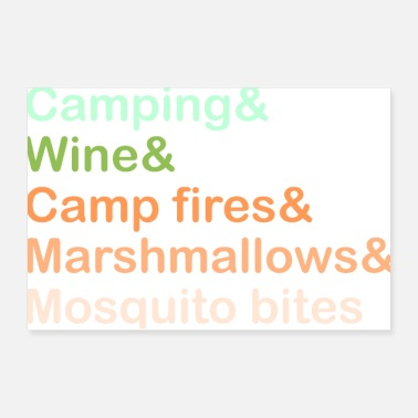 Skewer Camping and wine - Poster