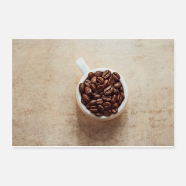 Bean Cup of coffee full of coffee beans - Poster
